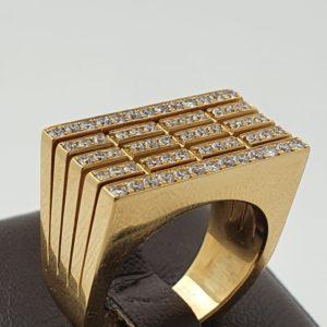 Chevalière Piaget or – sertie diamants